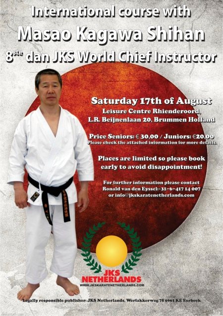 European course with Kagawa Shihan (Netherlands-info)